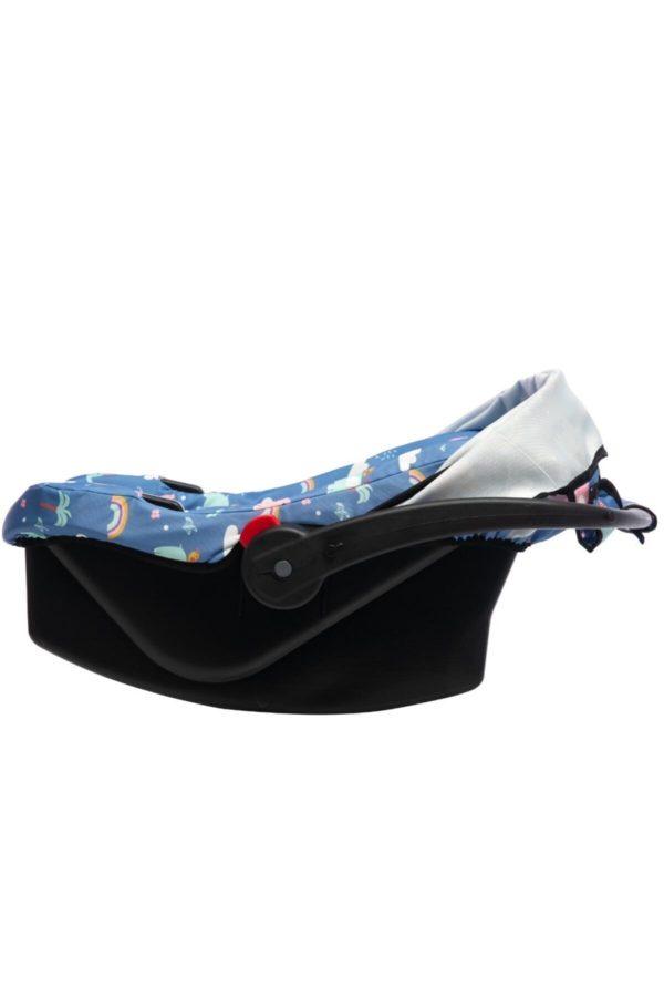 ahfam anakucağı oto koltugu mavi desenli