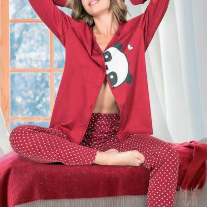 NBB Panda Desenli Kadın Pijama Takımı