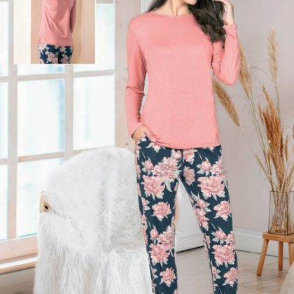 NBB Sırt Detaylı Viskon Kadın Pijama Takımı